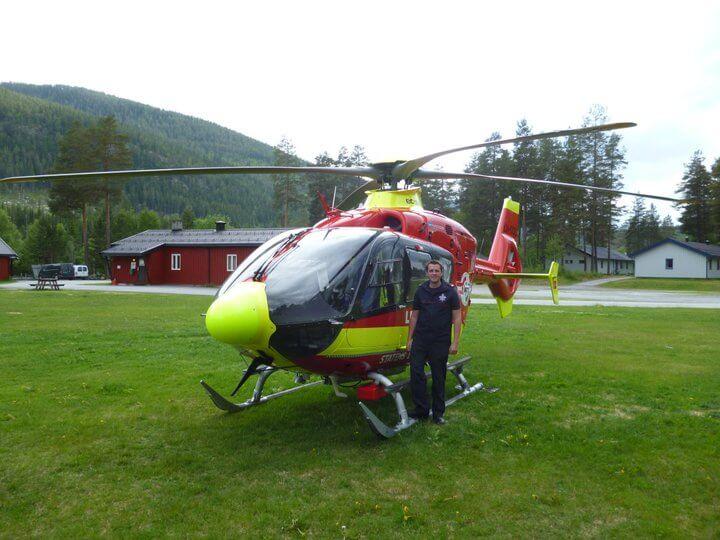 Joff Van Ek Rescue helicopter